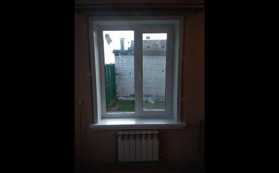 Замена окон в частном деревянном доме обложеным кирпичом